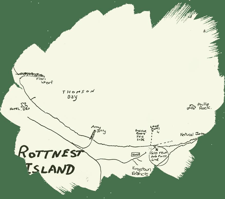 Early Rottnest Channel Swim map